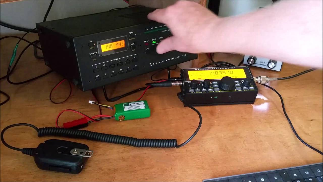 Elecraft KX2 driving a KPA500