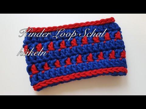 Kinder Loop Schal häkeln Anleitung