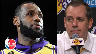 Frank Vogel: LeBron's emotional speech on Kobe Bryant represents who the Lakers are | NBA Sound