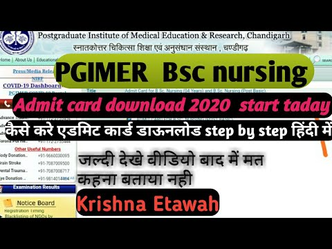 PGIMER B.sc nursing