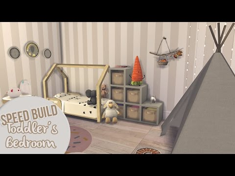 TODDLER'S BEDROOM | The Sims 4 Speed Build - YouTube