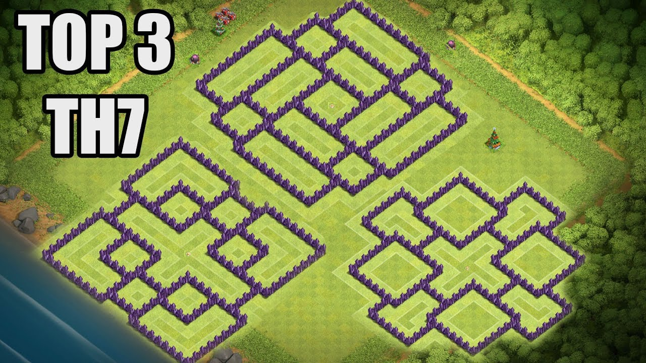 Top 3 Clash of Clans TH7 Base CoC Town Hall 7 War & Hybrid ...