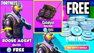 UNLOCK *NEW* ROGUE OUTFIT + CATALYST BACK BLING for FREE on FORTNITE BATTLE ROYALE! (STARTER PACK)