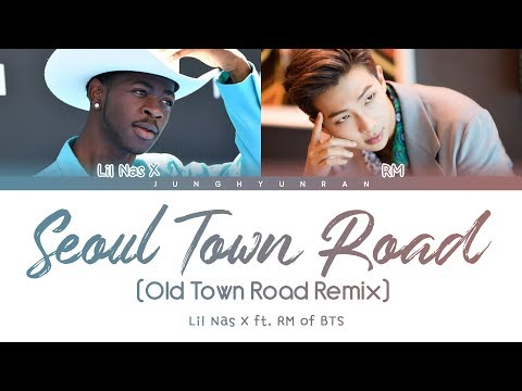 Lil Nas X & BTS RM - Seoul Town Road (Old Town Road Remix) 「Color Coded Lyrics」
