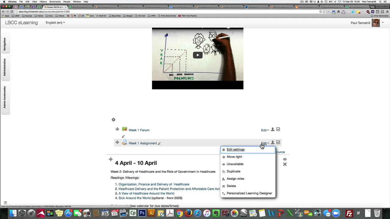 lbcc moodle Attaching Outcomes to Moodle Course and Assignment - YouTube