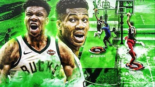 99 GIANNIS ANTETOKOUNMPO BUILD at POINT GUARD is UNSTOPPABLE on NBA 2K20! CRAZY CONTACT DUNKS!