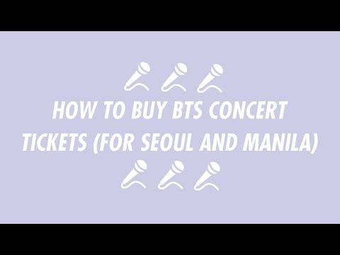 How To Buy Bts Concert Tickets For Seoul And Manila Concerts