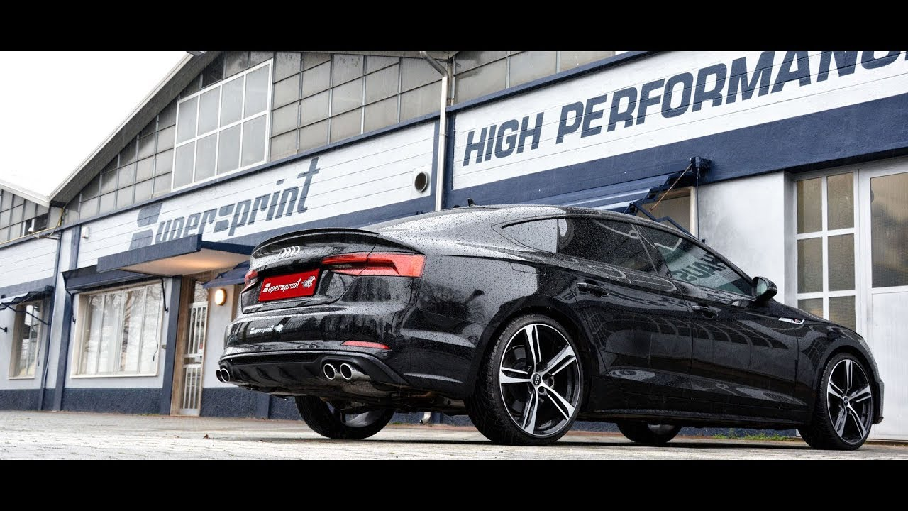 Audi A4 2.0 T >> AUDI A5 B9 Sportback 2.0 TFSI (190 - 252 Hp) 2017 - Supersprint full exhaust system - YouTube