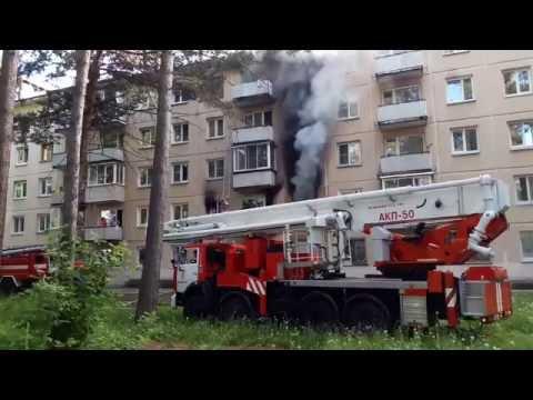 Пожар на ул.Курчатова 24 город Железногорск 23 Июня 2 016 год.