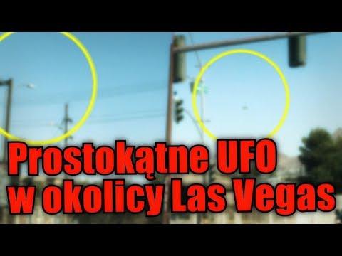 Niezwykłe prostokątne UFO widziane w pobliżu Las Vegas