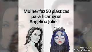 Sahar Tabar de 29 anos faz 50 cirurgias plásticas para ficar parecida com  Angelina Jolie