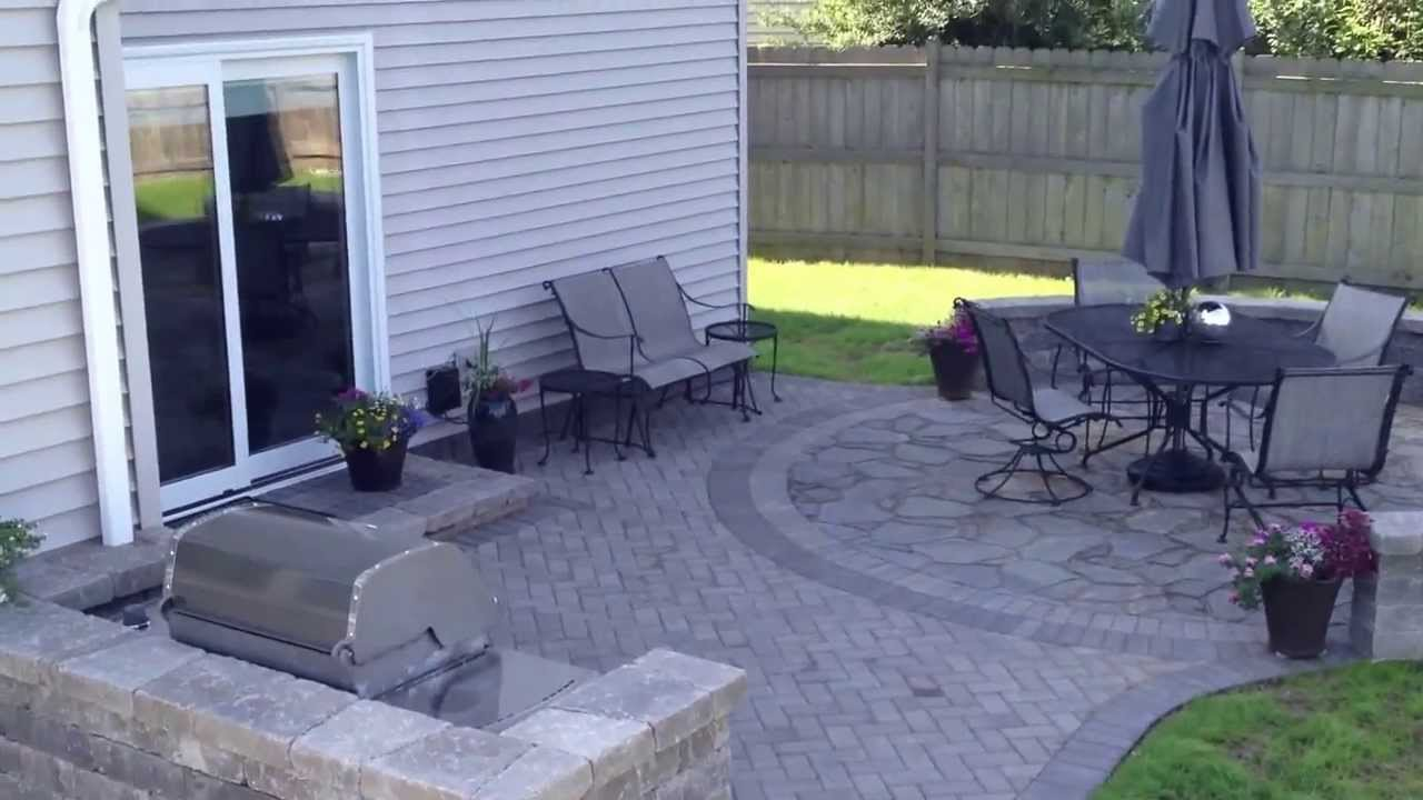 Belgard Patio With Fire Pit U0026 Grill Surround In Hoffman Estates, IL By  Archadeck Of Chicagoland