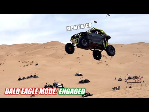 Launching My Can-Am X3 Turbo RR Off the Largest Sand Dune Jump We Could Find... (didn't die)