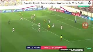 La goleada que Colombia le iso a peru