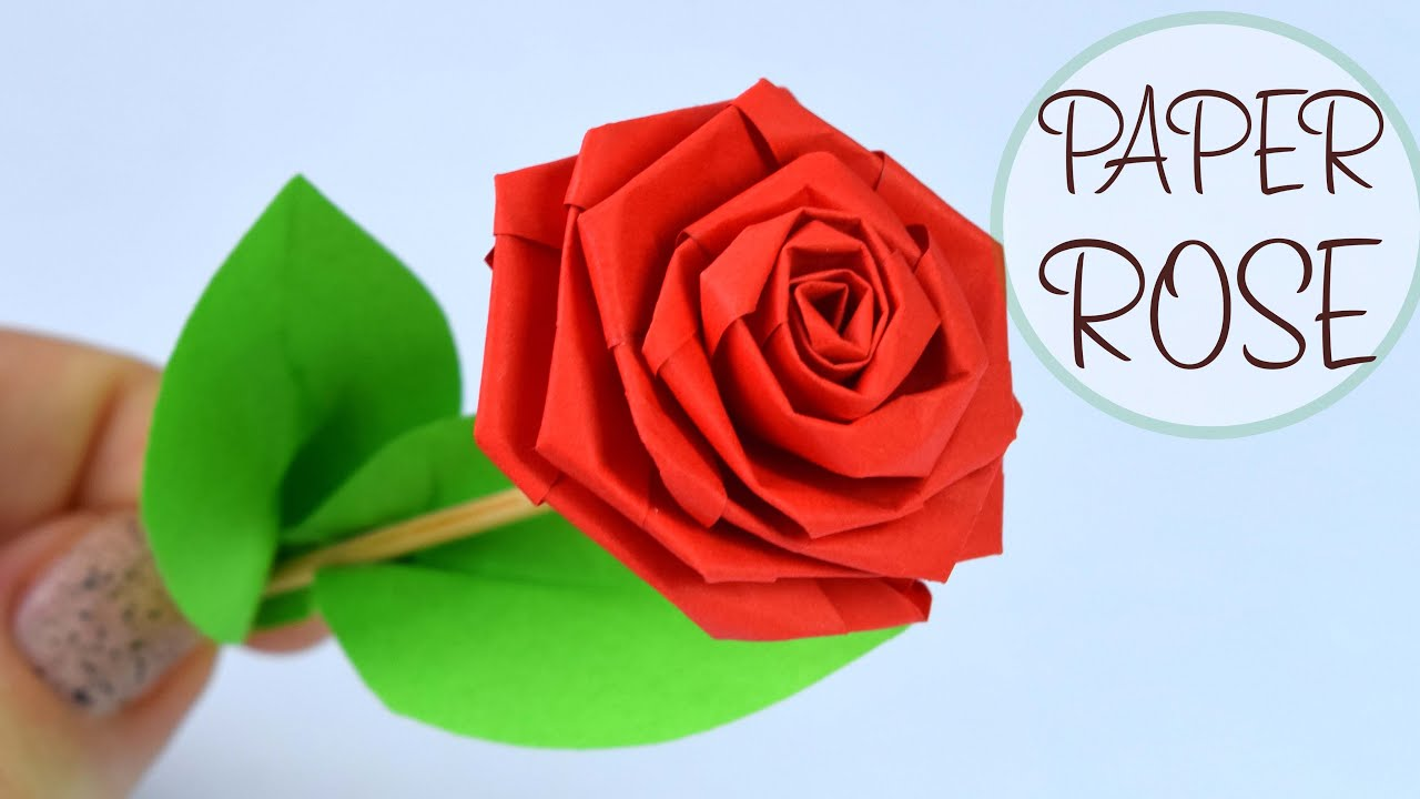 How To Make Rose Of Paper Diy Paper Crafts Youtube