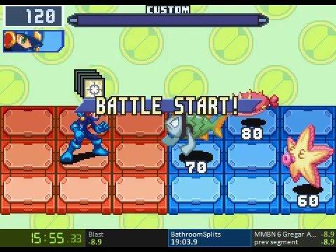 Mega Man Battle Network 6 Gregar Speedrun in 2:23:39