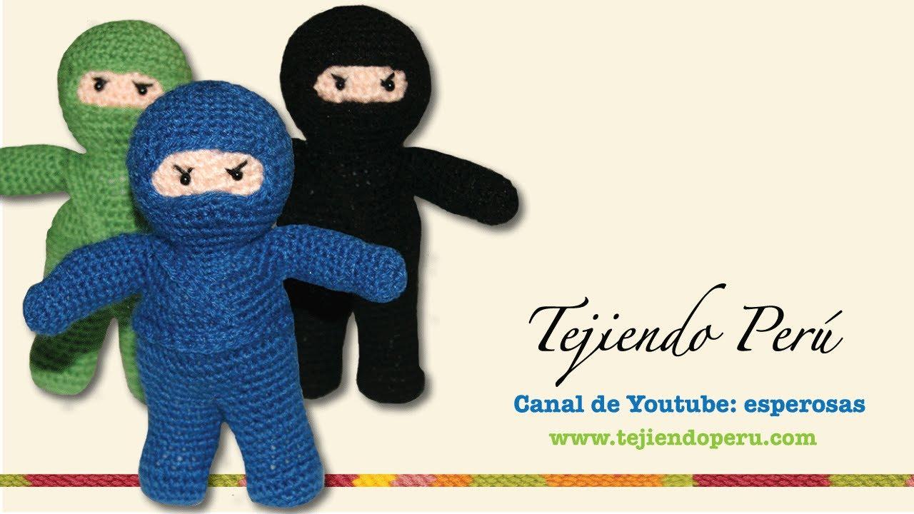 Ninja amigurumi tejido a crochet (Parte 2) - YouTube