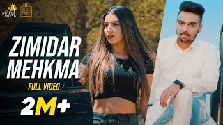 Zimidar Mehkma (Official Video) Maninder Dhaliwal | Gurlez Akhtar | The Maple Music | Punjabi Songs