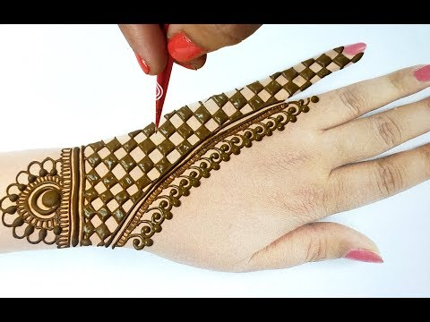 मेहँदी डिज़ाइन सीखने का आसान तरीका - Stylish Mehndi Design for Hands - New Mehndi Design