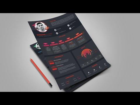 UI/UX Designer Resume Design In Adobe Illustrator CC (Complex Version)