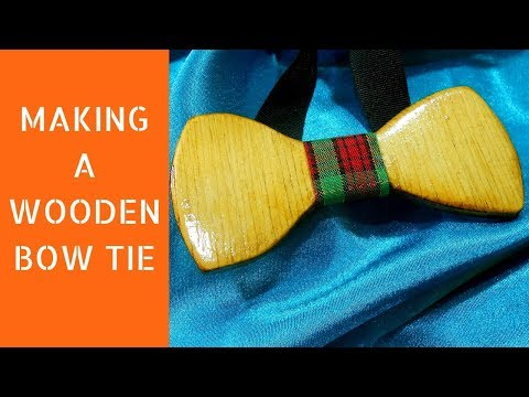 Making a wooden bow tie | DIY bow tie