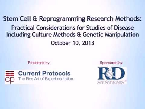 Webinar: Stem Cell and Reprogramming Research Methods