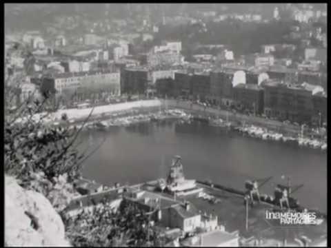 Front de mer et marina de Nice 1960