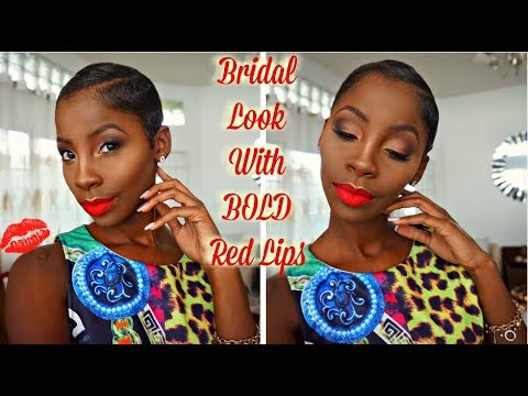 Bridal look with BOLD Red Lips | Shaph Sassy MUA