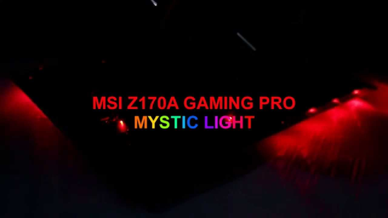 sc 1 st  YouTube & MSI Z170A GAMING PRO Mystic Light RGB LED - YouTube azcodes.com