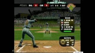 All-Star Baseball 2004 GameCube Gameplay - Pop-up fly --