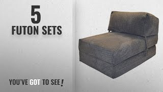 Top 10 Futon Sets [2018]: JAZZ CHAIRBED - DA VINCI Deluxe Single Chair z Bed futon (Charcoal)