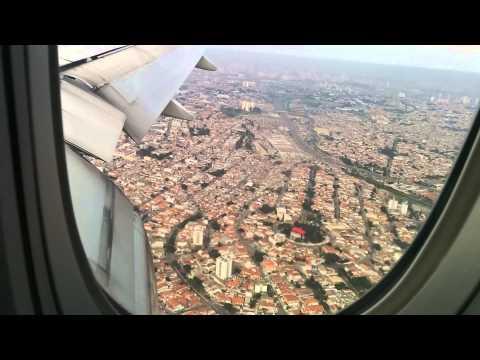 Korean Air landing in São Paulo Guarulhos airport