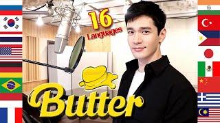 'Butter' (BTS) 1 Guy Singing in 16 Languages (Multi-Language Cover) - Travys Kim