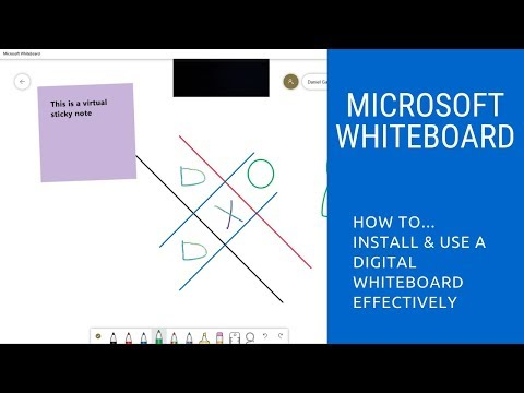 How To Use Microsoft WhiteBoard