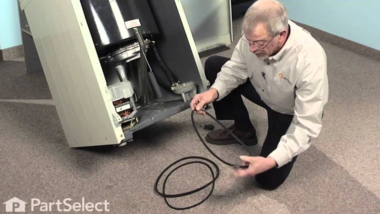hight resolution of washer repair replacing the drive belt whirlpool part 211125 youtube