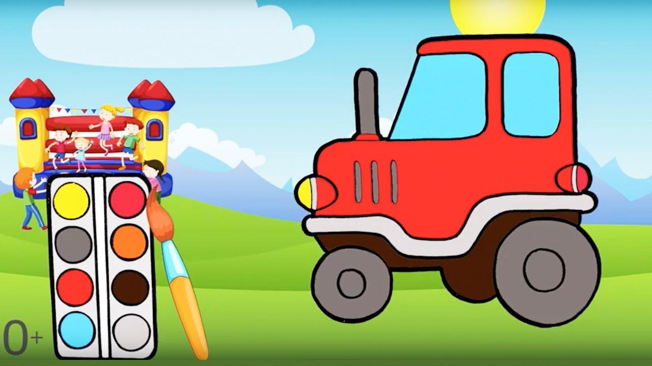 Мультик раскраска. Детские онлайн раскраски Робот, Трактор ...