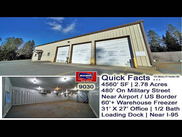 Warehouse Distribution Light Manufacturing Commercial Building In Maine Video | MOOERS REALTY 9030