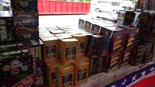 Bellino Fireworks tent at Hy-Vee 1720 Waterfront Dr, Iowa City, IA 52240