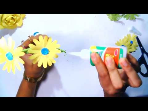 How to Make Beautiful Paper Stick Flower  | Orchid flower | flower stick |