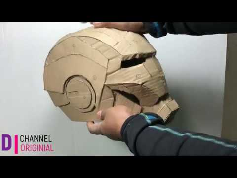 How to make IRON MAN HELMET out of CARDBOARD(free PDF templates)