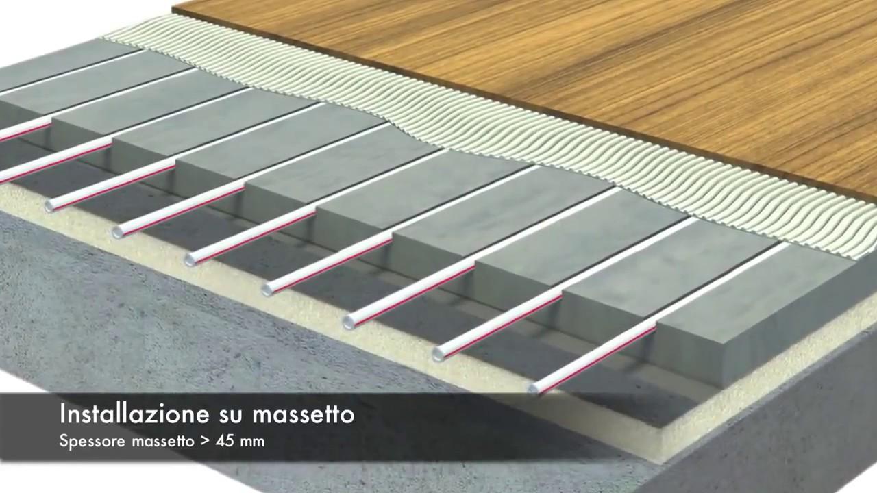 Riscaldamento A Pavimento Ribassato Spessore riscaldamento a pavimento a zero spessore - youtube