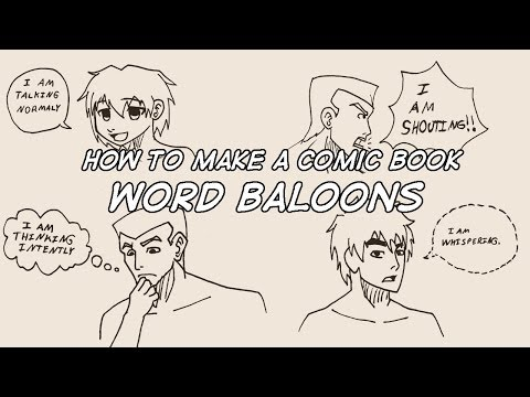 How To Make A Comic Book - Word Balloons