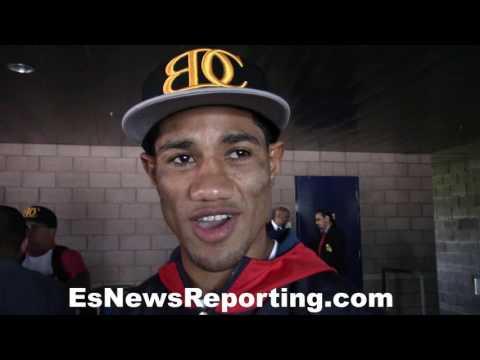 Miguel Marriaga's last words before fighting Valdez - EsNews Boxing