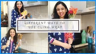 Unbelievable Tips and Tricks with Plastic Wrap|Cling Flim |Cling wrap Uses|Arpita's Space