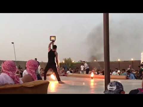 Dubai Desert Camp Fire show Part 1