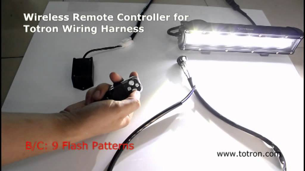 Wireless Remote Controller for Totron Wiring Harness - YouTube