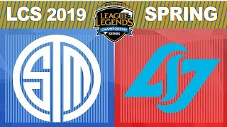 TSM vs CLG - LCS 2019 Spring Split Week 8 Day 2 - Team SoloMid vs Counter Logic Gaming