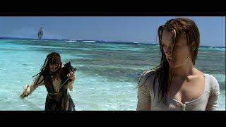Джек Воробей и Элизабет Суонн на острове. HD