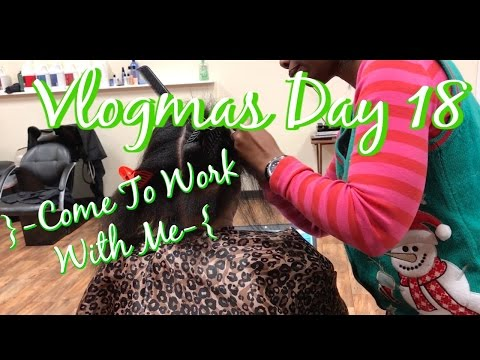 Come To Work With Me At The Hair Salon Vlogmas Day