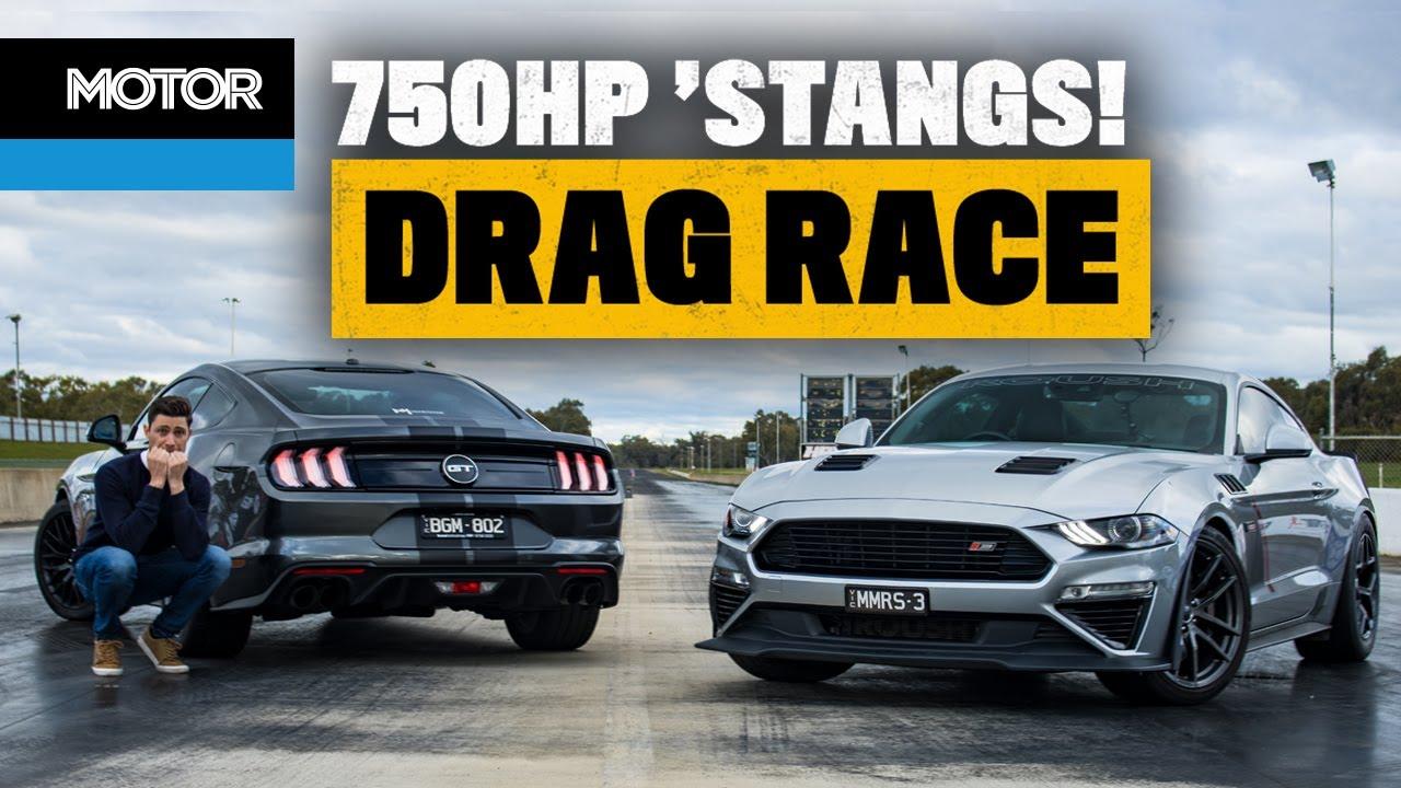 750hp Roush Mustang DRAG RACE! (scary fast!) | MOTOR